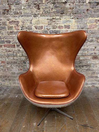 Aviator Leather Swivel Egg Chair (1 of 4)
