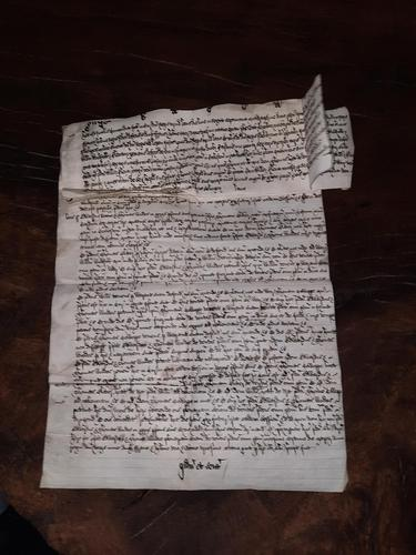 1440 A.D Medieval James ll of Scotland Period Vellum Document (1 of 13)