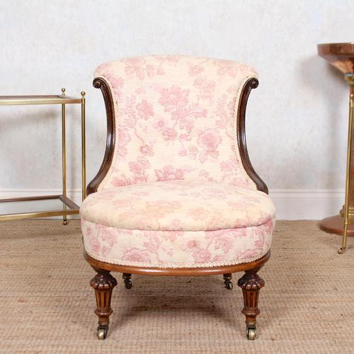 Tub Chair Carved Mahogany 19th Century (1 of 10)