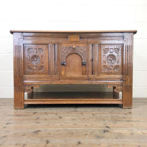 Antique Oak Cupboard with Carved Detail (1 of 11)