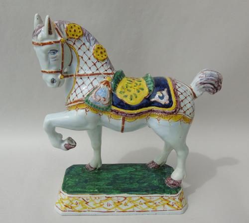 Rare Mid 19th Century Dutch Delft Ceremonial Horse (1 of 8)