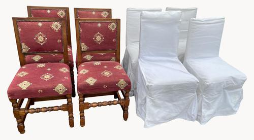 Fabulous Set of Eight Cherrywood Dining Chairs (1 of 8)