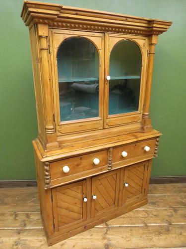 Antique Irish Kitchen Dressser with Glazed Top, Rustic Country Dresser (1 of 11)