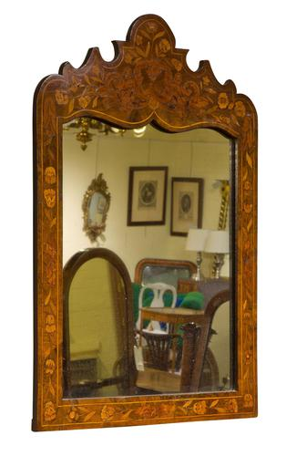 Dutch Marquetry Mirror Early 19thc (1 of 6)