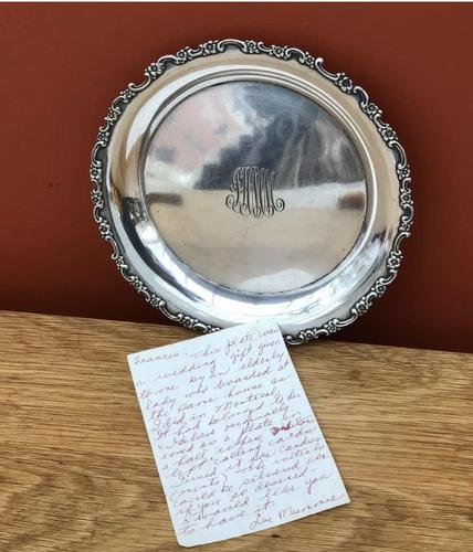 Early 20th Century Tiffany & Co Solid Silver Card Tray / Dish (1 of 7)