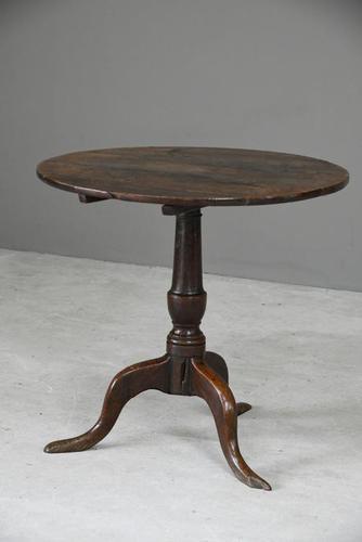 Antique Rustic Oak Tripod Table (1 of 12)