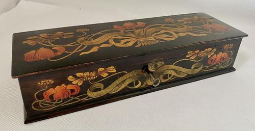 Superb Art Nouveau Pen & Ink Decorated Box (1 of 10)