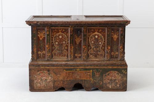 18th Century Painted Trunk on Stand (1 of 13)