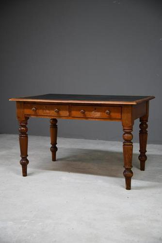 19th Century Antique Pine Desk (1 of 12)
