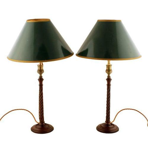 Pair of Georgian Candlestick Lamps (1 of 8)