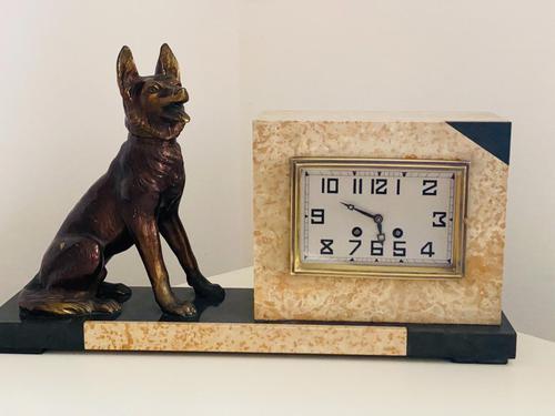Art Deco Onyx Clock (1 of 5)