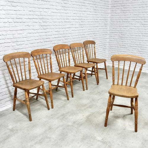 Set of 6 Stickback Windsor Kitchen / Dining Chairs (1 of 6)