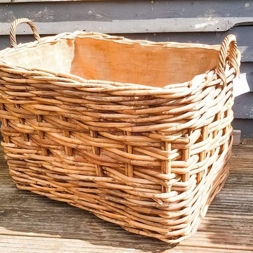 Large Wicker Log Basket on Wheels (1 of 6)