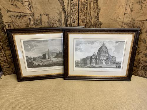 Large Pair of 19th Century Framed Engravings of Vatican Scenes (1 of 7)