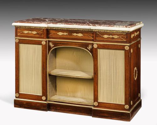 Regency Period Goncalo Alves Side Cabinet of Slightly Inverted Breakfront Form (1 of 8)