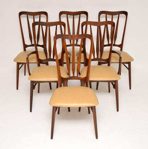 1960's Danish Rosewood & Leather Dining Chairs by Niels Kofoed (1 of 12)