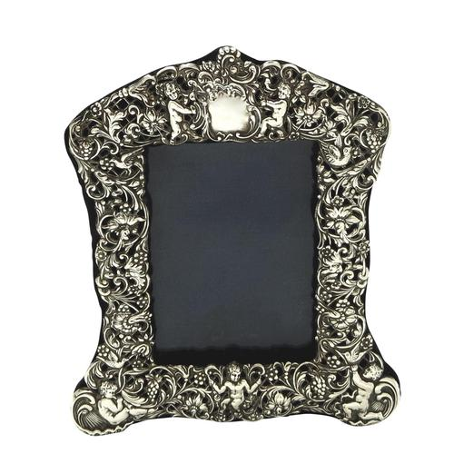 "Antique Edwardian Sterling Silver 8"" Photo Frame 1903 (1 of 11)"
