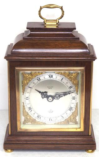 Perfect Vintage Mantel Clock Caddy Top Bracket Clock by Elliott of London Retailed by Malory of Bath (1 of 12)