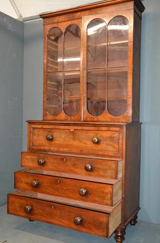 Mahogany Secretaire Bookcase (1 of 3)