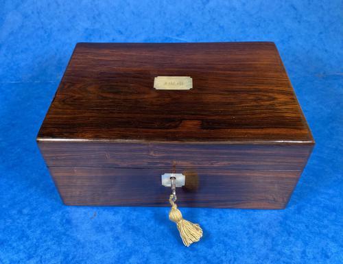 Victorian Rosewood Jewellery Box (1 of 10)