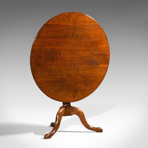 Antique Tilt Top Side Table, England, Oak, Occasional, Lamp, Georgian c.1760 (1 of 12)