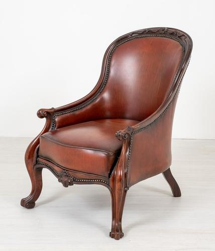 Victorian Rosewood Cabriole Leg Armchair (1 of 9)