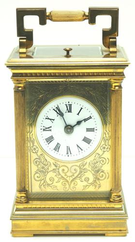 Fine French Repeat Carriage Clock with Foliate Carved Decoration By Charles Frodsham London (1 of 12)