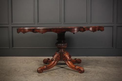 Victorian Shaped Rosewood Centre Table (1 of 14)