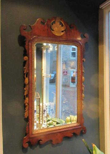 Superb George III Period Antique Walnut Wall Mirror (1 of 9)