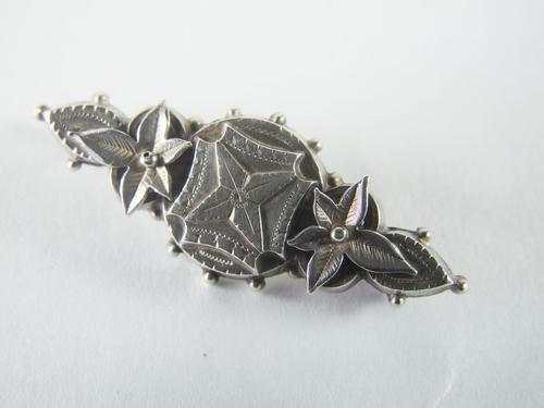 Victorian Sterling Silver Brooch (1 of 2)