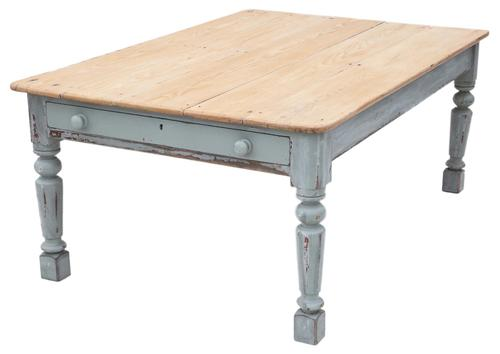 Pine Scrub Top Kitchen Dining Table 19th Century (1 of 11)