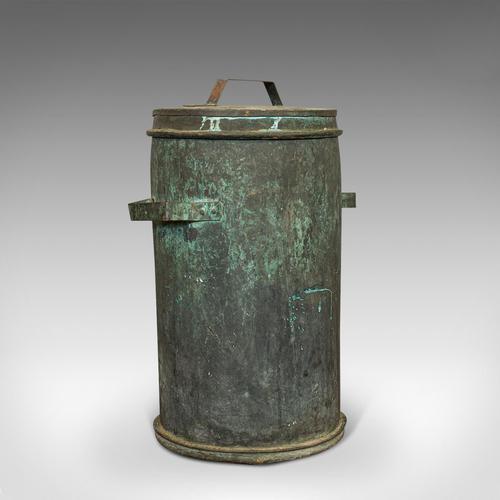 Antique Grain Bin, French, Copper, Farmhouse Silo, Fireside, Victorian c.1890 (1 of 9)