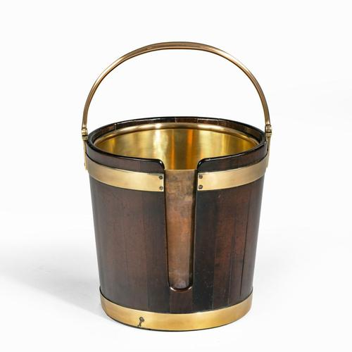 A George III mahogany and brass-bound plate bucket (1 of 6)