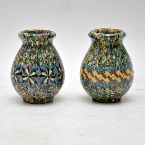 1960's Pair of Vallauris Ceramic 'Mosaic' Vases by Jean Gerbino (1 of 10)