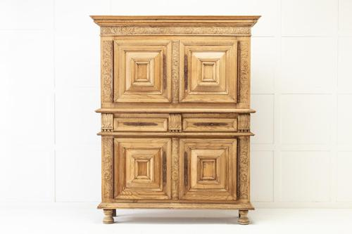 17th Century Flemish Bleached Oak Cabinet (1 of 13)