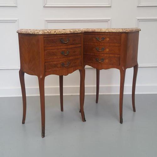 Beautiful Kingwood Bedside Cabinets with Marble Tops (1 of 7)