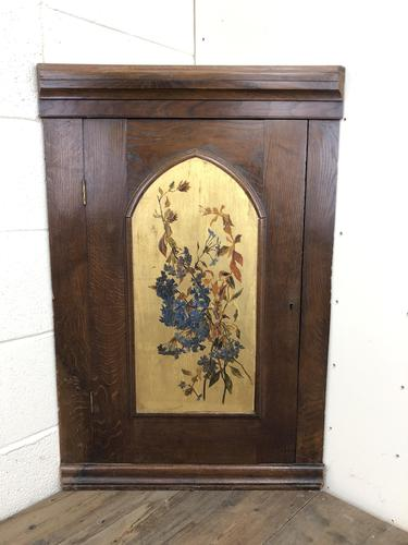 Decorative Antique Oak Corner Cupboard (1 of 5)