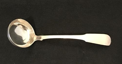 Silver Fiddle Back Silver Sauce Ladle Edingburgh 1829 (1 of 4)