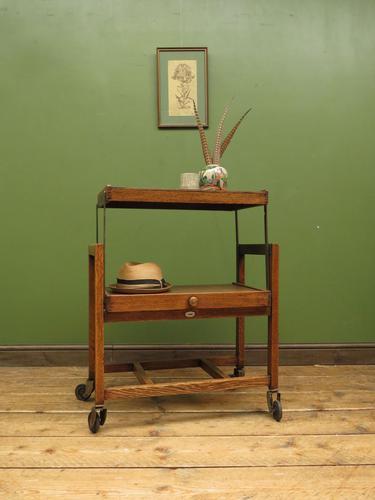 Vintage Metamorphic Oak Tea Trolley Table by Besway (1 of 18)