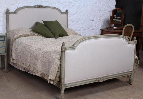 Lovely newly upholstered king size French bed (1 of 9)