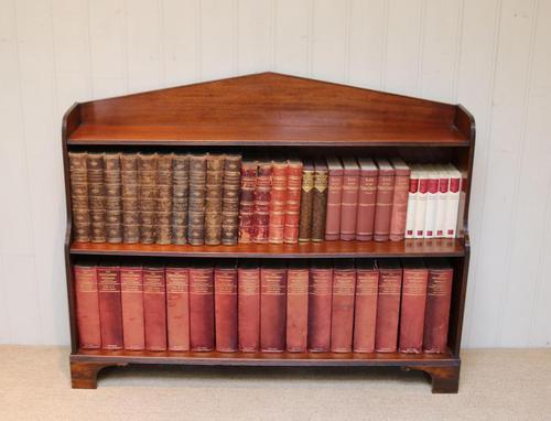 Edwardian Open Mahogany Bookcase c.1910 (1 of 12)