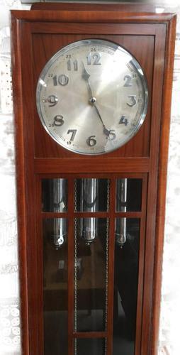 Art Deco Eight Day Chiming Longcase Clock, Fabulous Piece (1 of 13)