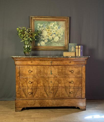 Large Louis Philippe Walnut Commode (1 of 12)