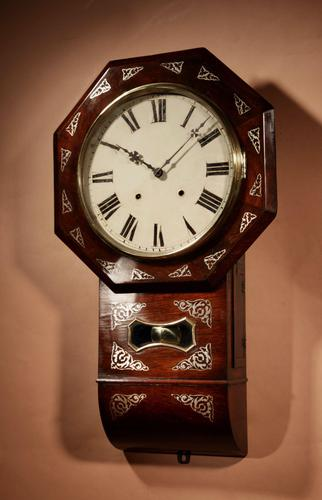 An Interesting Drop Dial American Wall Clock, Second Half 19th century. (1 of 12)
