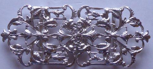 Victorian London 1894 Hallmarked Solid Silver Nurses Belt Buckle (1 of 9)