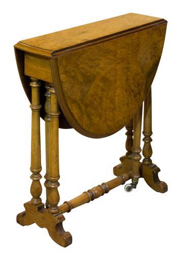 Fine Burr Walnut Sutherland Table (1 of 6)