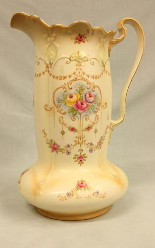Antique Impressive Large Decorated Crown Ducal Ware Jug (1 of 7)