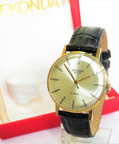Gents 1970s Sekonda de Luxe Wrist Watch (1 of 4)