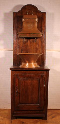 Washstand with Copper Reservoir- 19th Century - France (1 of 10)