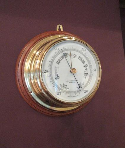 Antique Barker of London Bulkhead Marine Barometer (1 of 5)